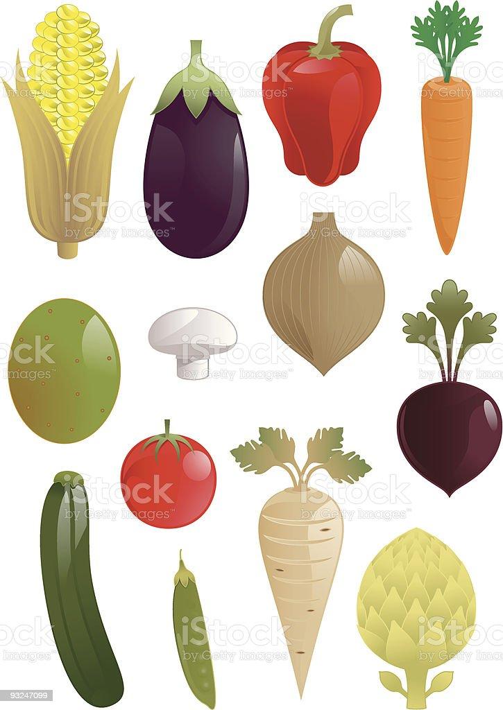 Vegetable Illustrations vector art illustration