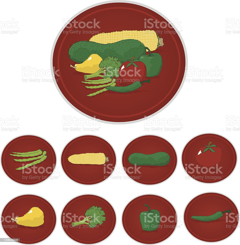 Vegetable Labels royalty-free stock vector art