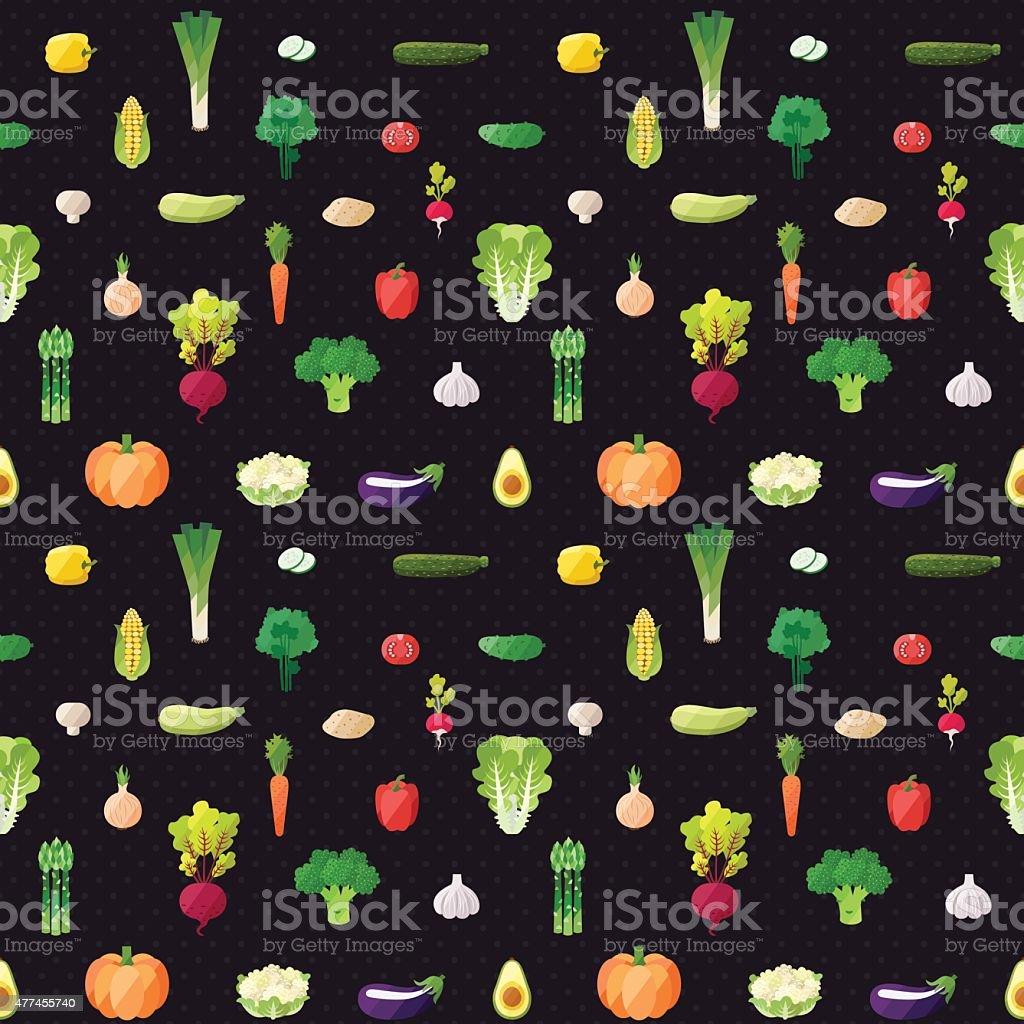 Vegetable multicolored seamless vector pattern. vector art illustration