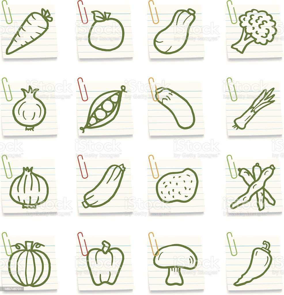 Vegetable notes royalty-free stock vector art