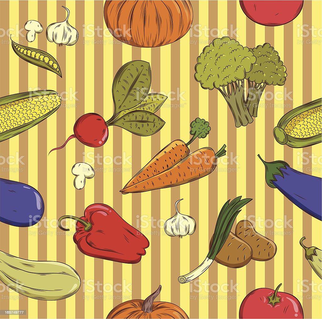 vegetable seamless texture royalty-free stock vector art