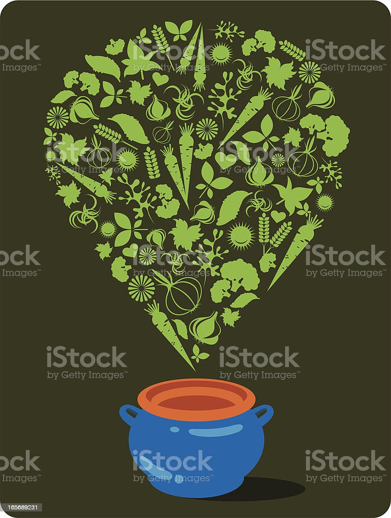 Vegetable soup. royalty-free stock vector art