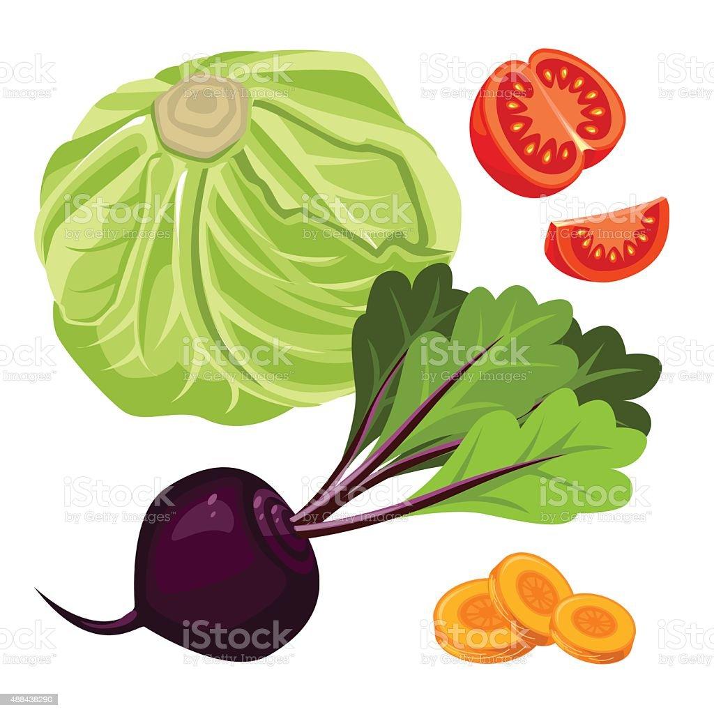 vegetable vector art illustration