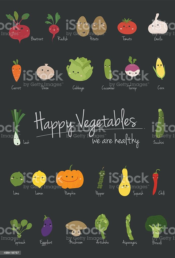 Vegetables cartoon vector vector art illustration