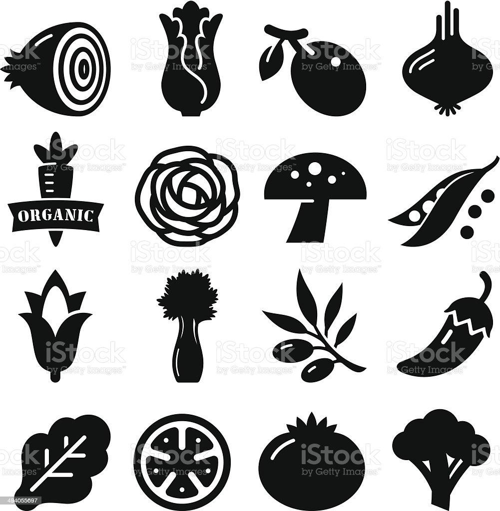 Vegetables Icon - Black Series vector art illustration