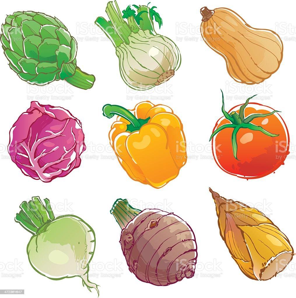 vegetables icon - Illustration vector art illustration