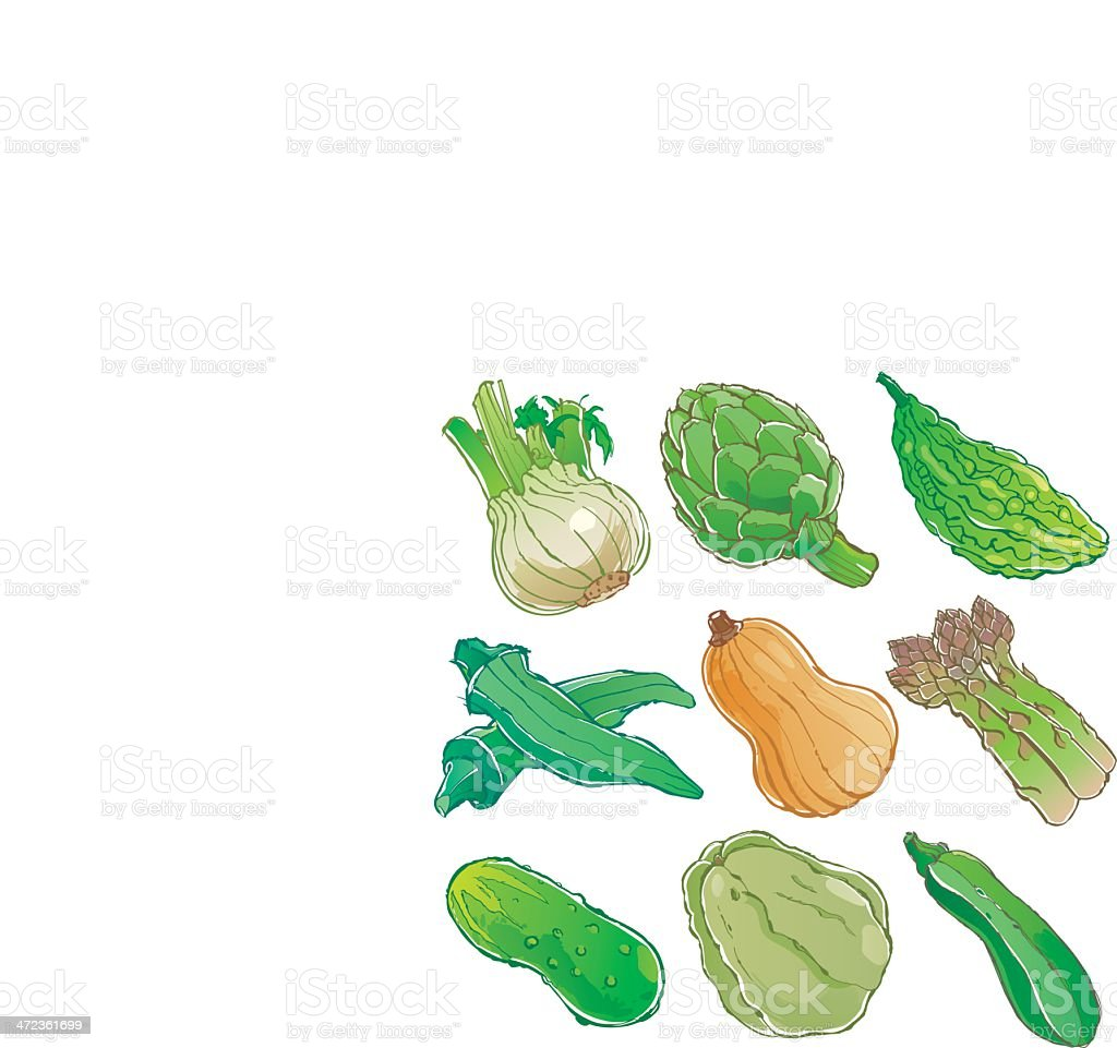 vegetables icon vector art illustration