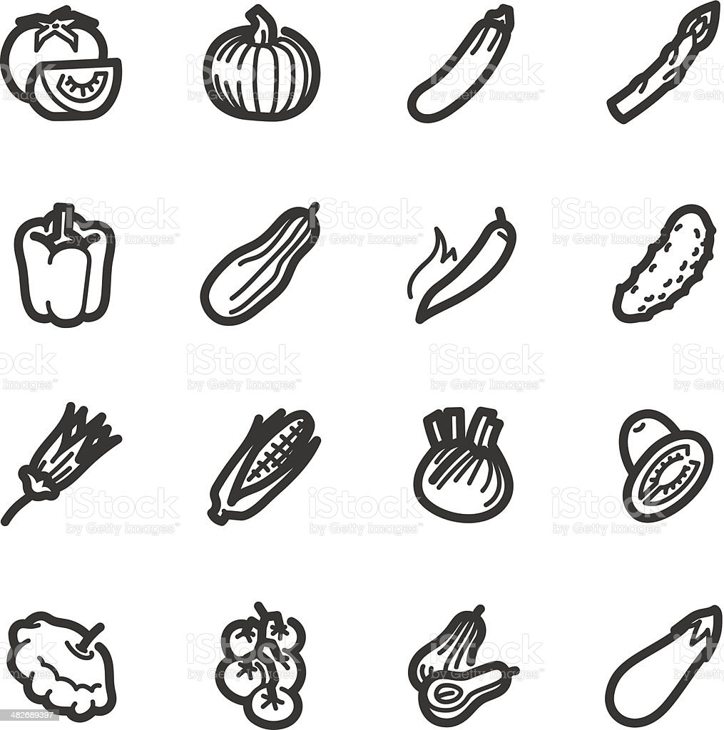Vegetables icons – Bazza series royalty-free stock vector art