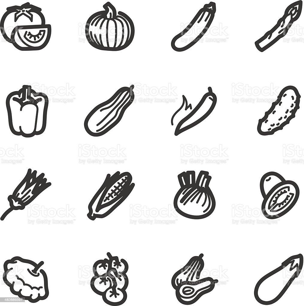 Vegetables icons – Bazza series vector art illustration