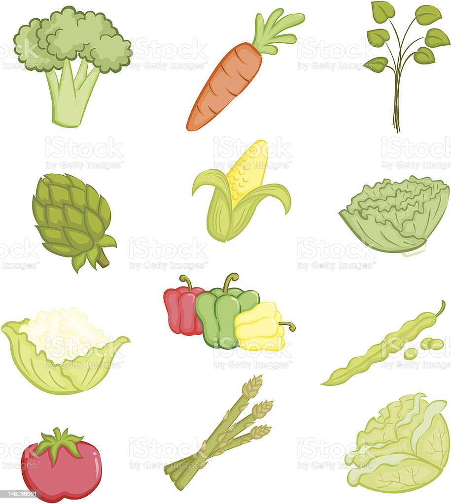 Vegetables icons royalty-free stock vector art