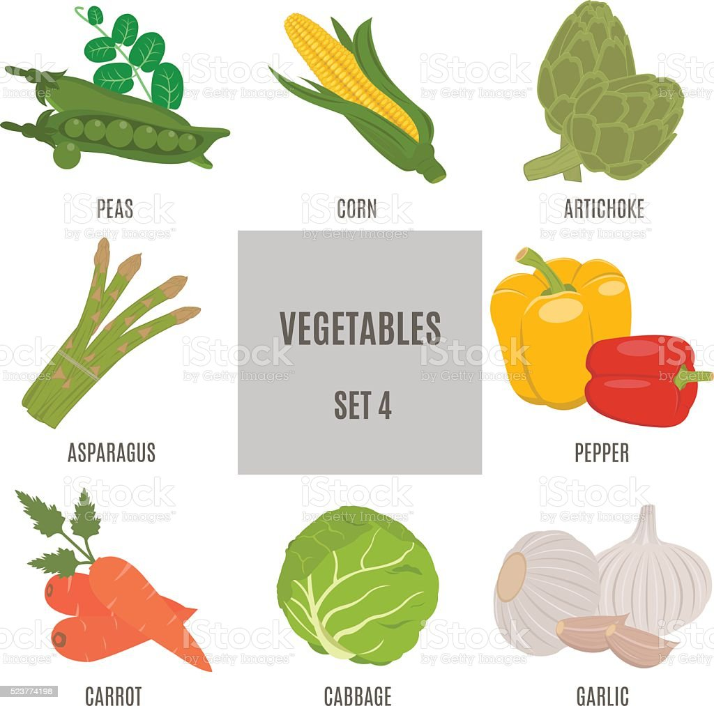Vegetables. Set 4 vector art illustration