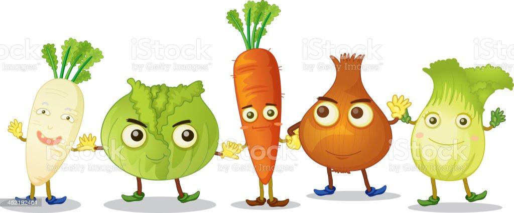 Vegetables royalty-free stock vector art