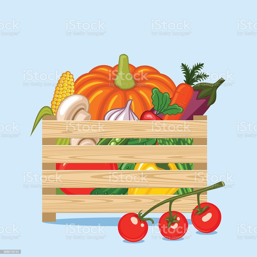 Vegetables. vector art illustration