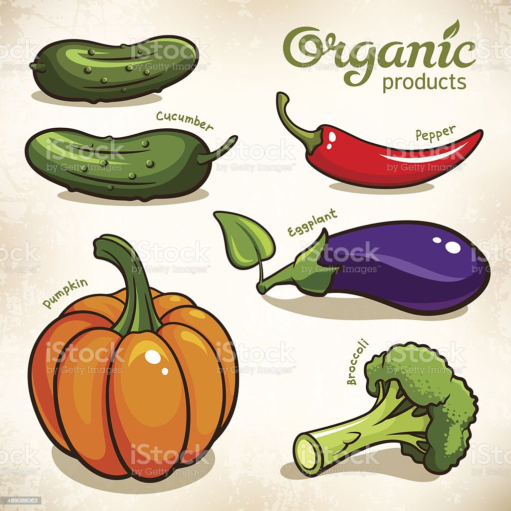 Vegetables vector set vector art illustration