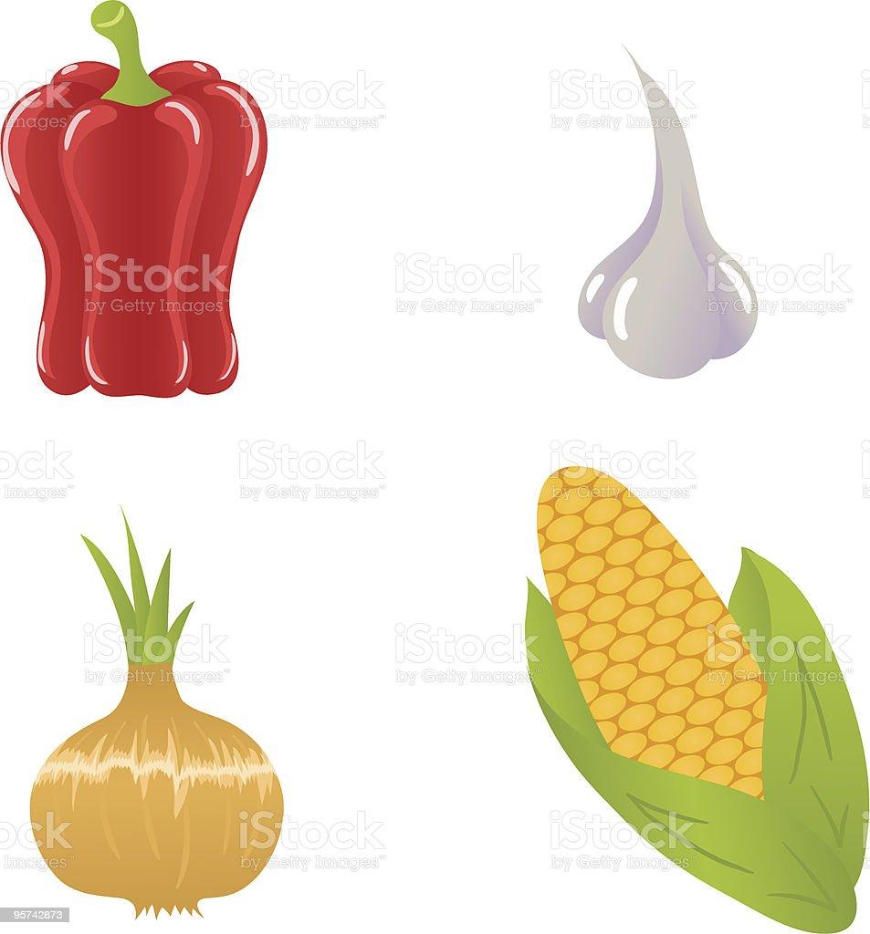 Vegetables2 royalty-free stock vector art