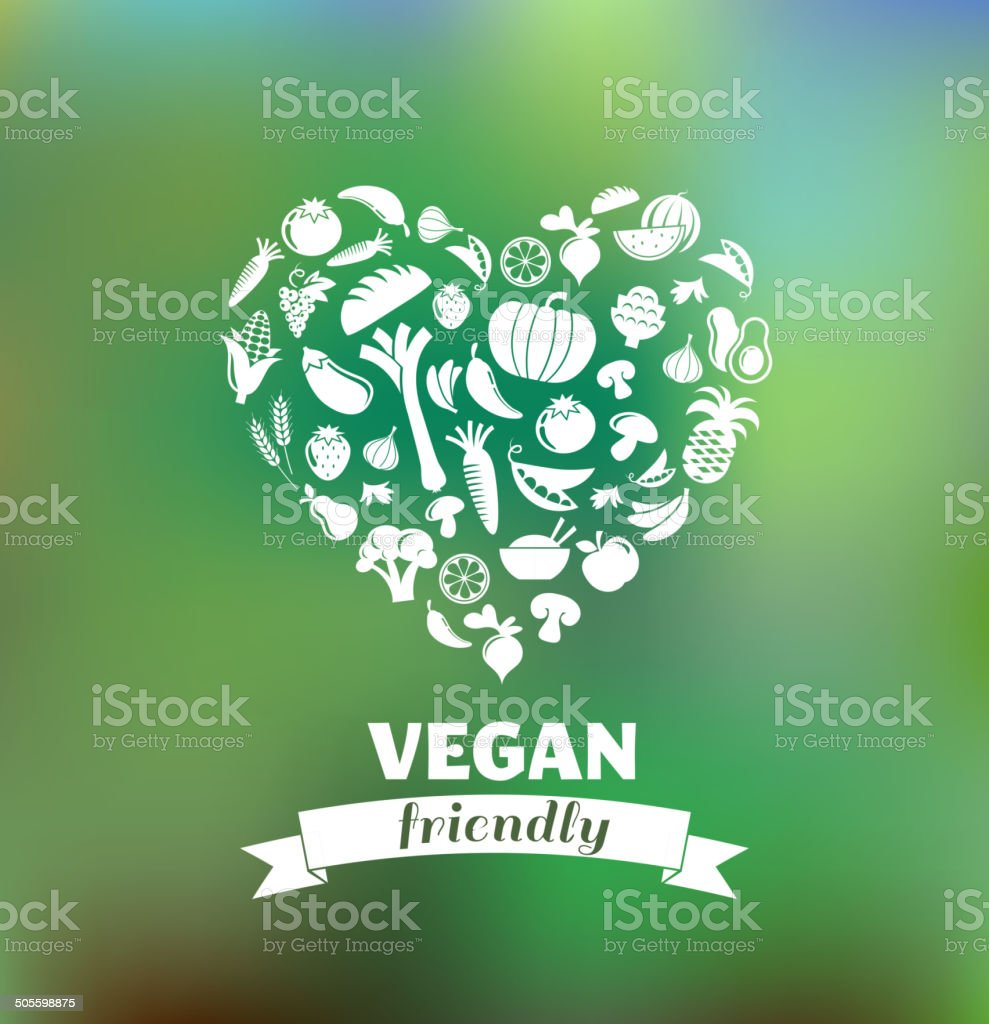 vegetarian and vegan, healthy organic background vector art illustration