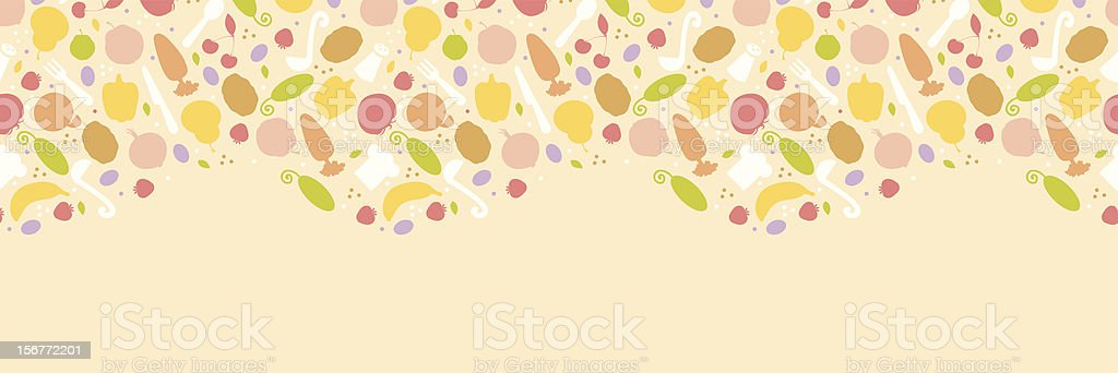 Vegetarian Cooking Horizontal Seamless Ornament royalty-free stock vector art