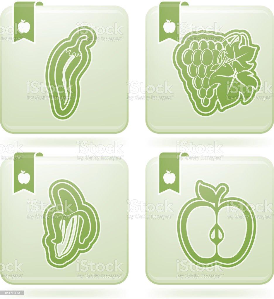 Vegetarian food royalty-free stock vector art