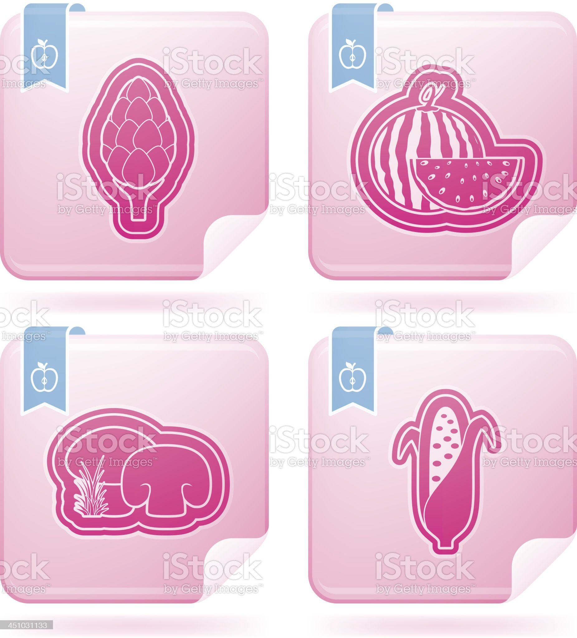 Vegetarian food royalty-free stock vector art