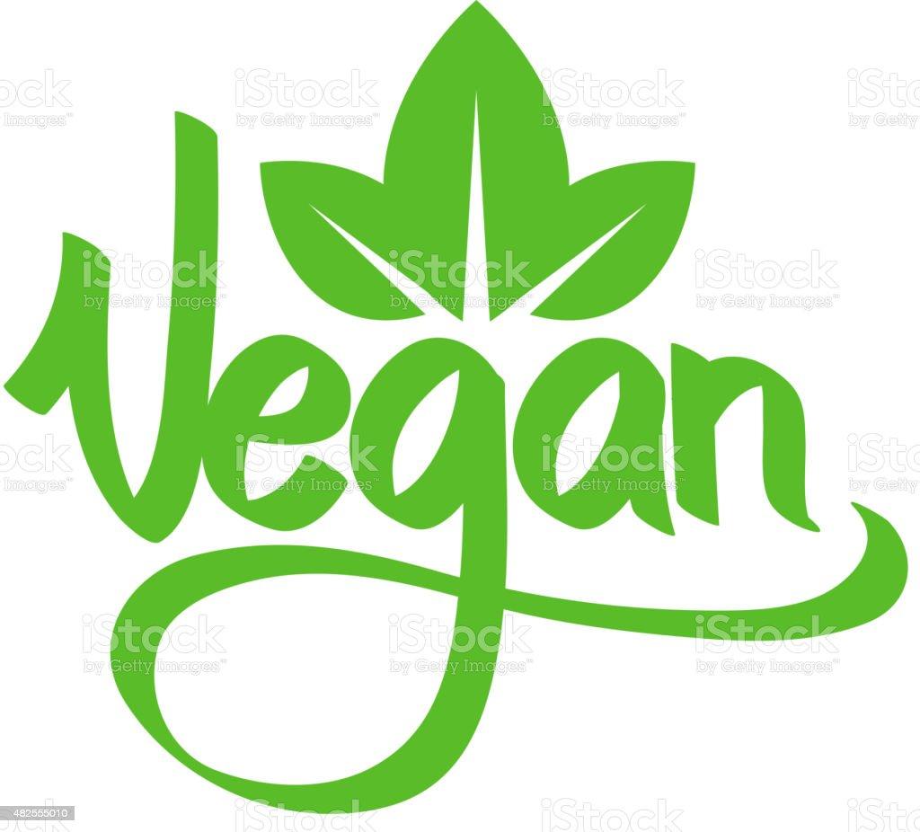 Vegetarian green text. vector art illustration