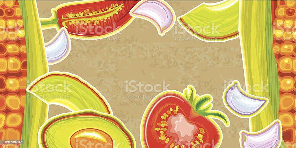 Vegetarian Menu vector art illustration