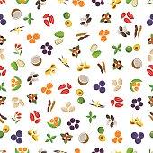 Vegetarian superfood healthy vegetable pattern.