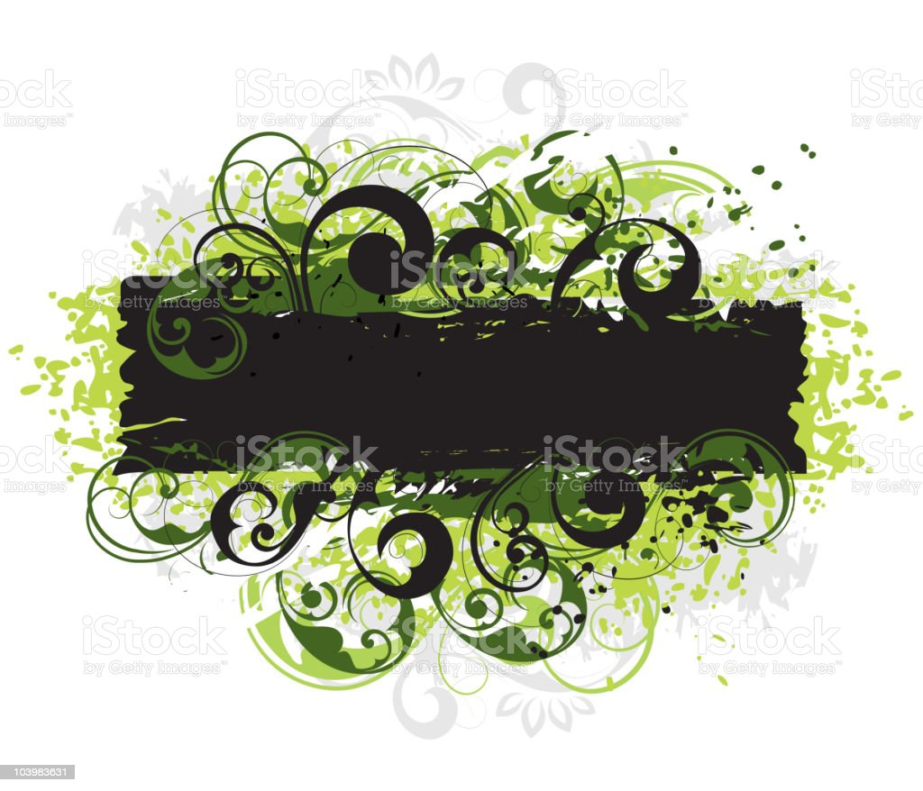 Vegetative composition royalty-free stock vector art