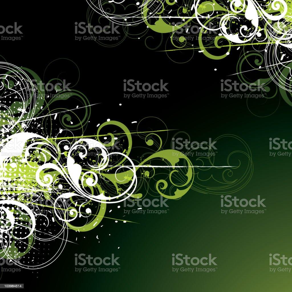 Vegetative composition royalty-free stock vector art