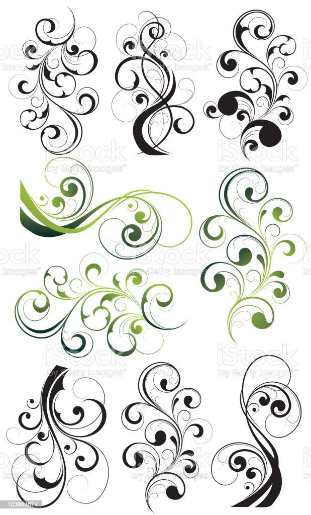 Vegetative elements royalty-free stock vector art