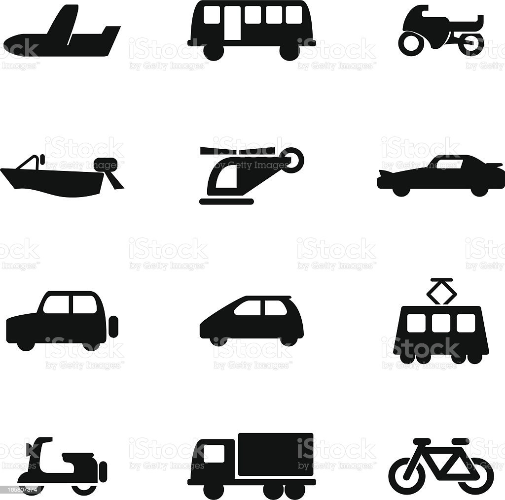 Vehicle Icon Set royalty-free stock vector art
