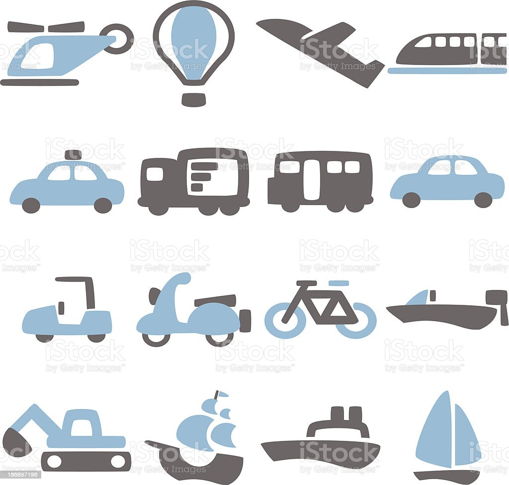 Vehicle Icon royalty-free stock vector art