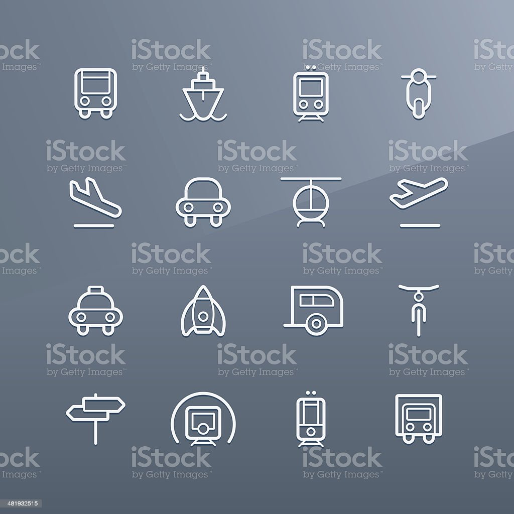 Vehicle icons - Linea series royalty-free stock vector art