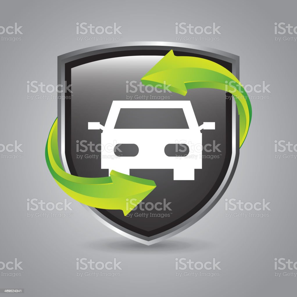 Vehicle Shield royalty-free stock vector art