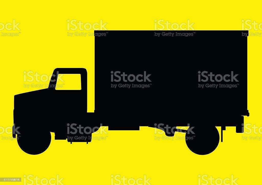 Vehicle Truck vector art illustration
