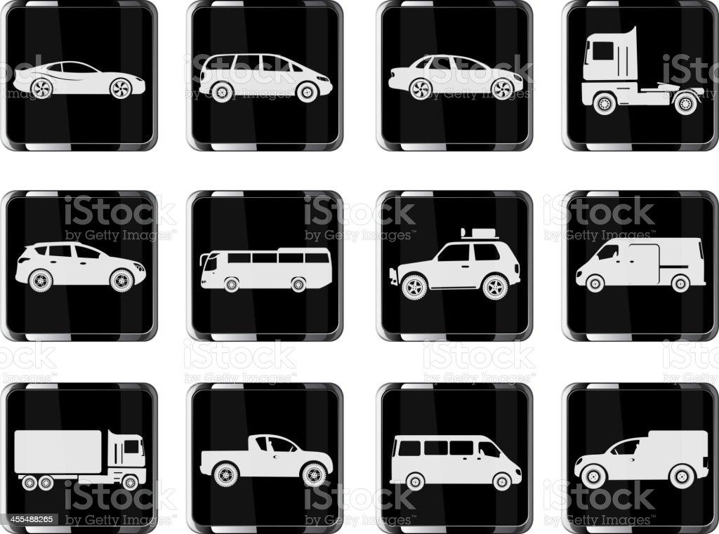 Vehicles Icon Set royalty-free stock vector art
