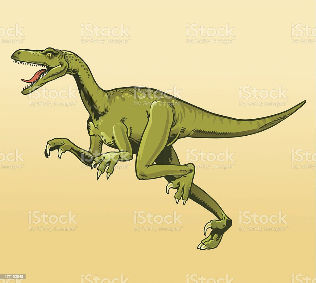 Veliciraptor royalty-free stock vector art