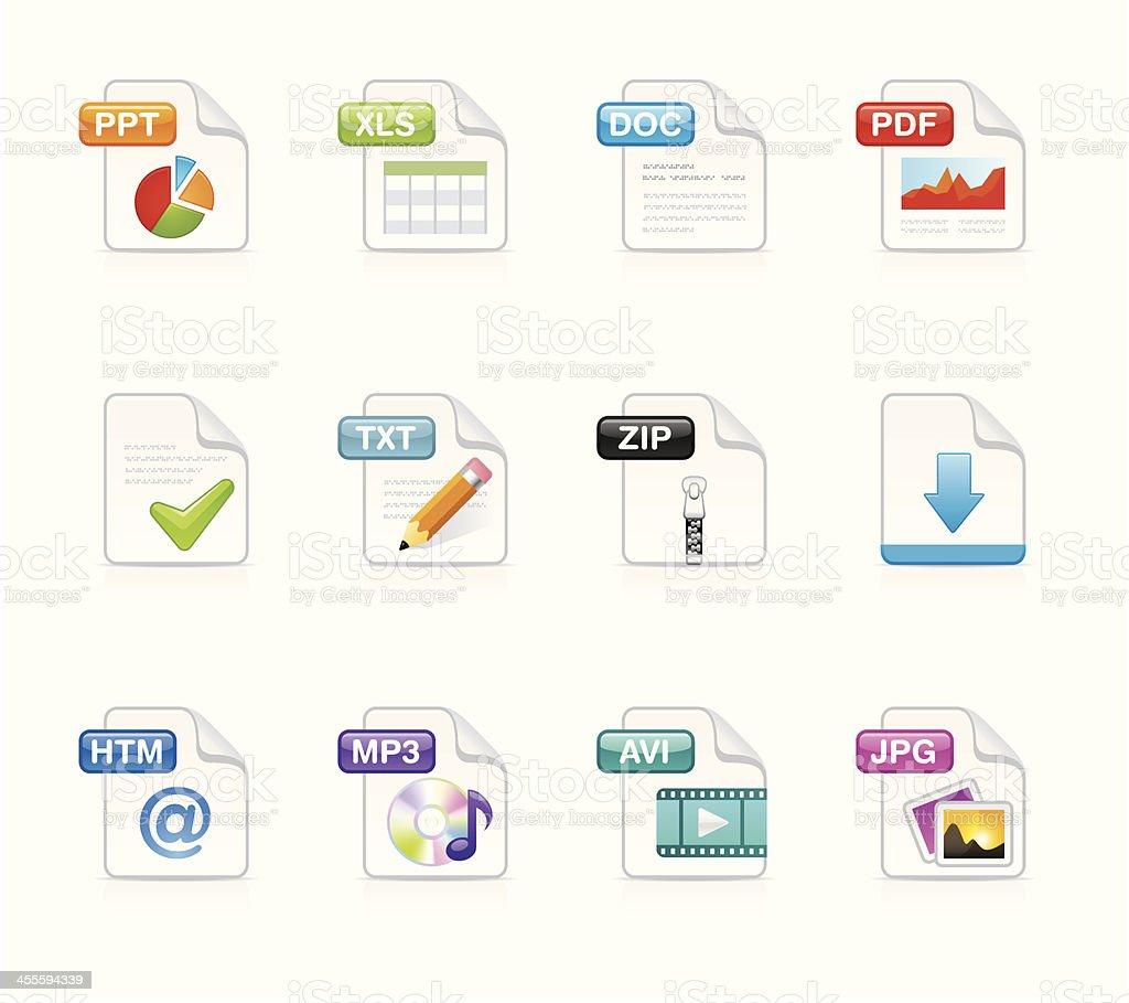 Velvet Icons - File extension vector art illustration