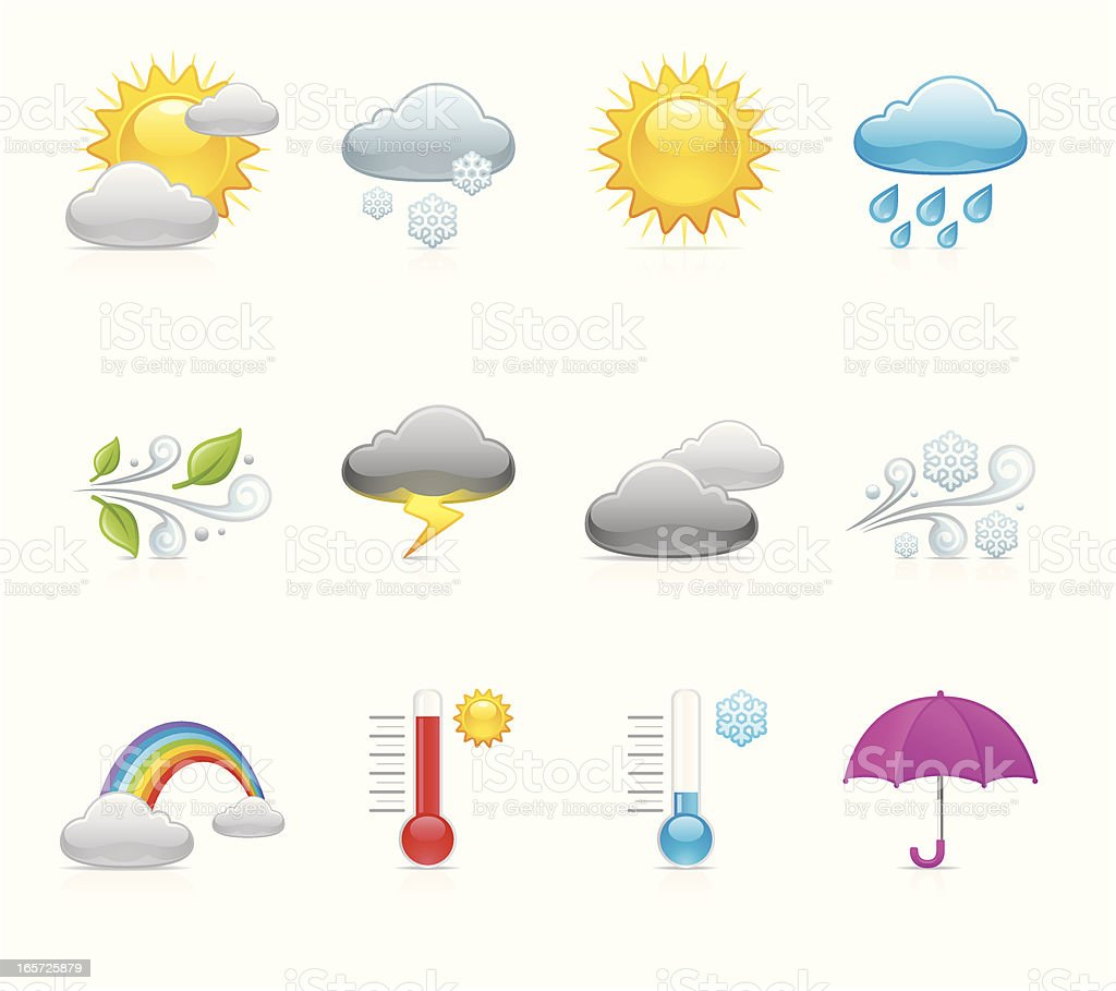 Velvet Icons - Weather royalty-free stock vector art