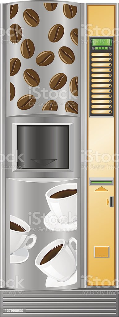 vending coffee is a machine royalty-free stock vector art