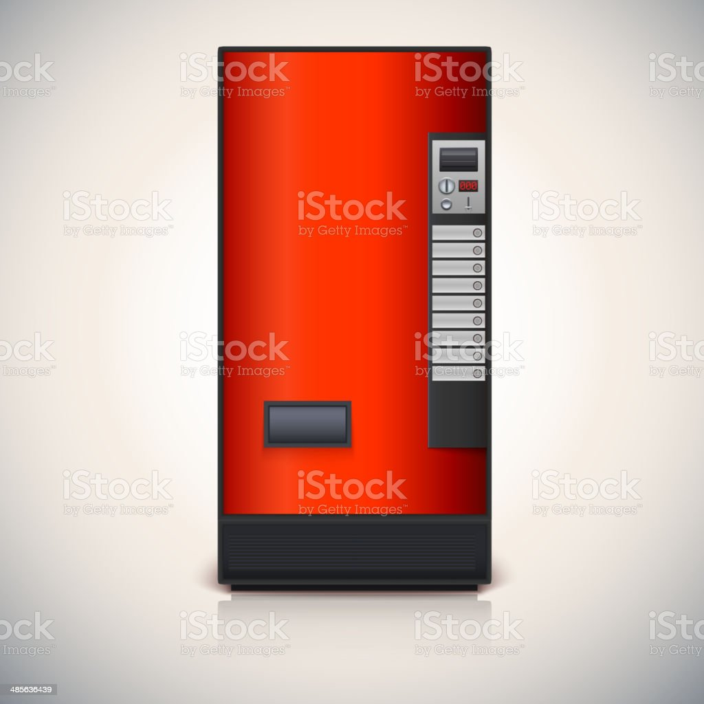 Vending machine for the sale of drinks. vector art illustration