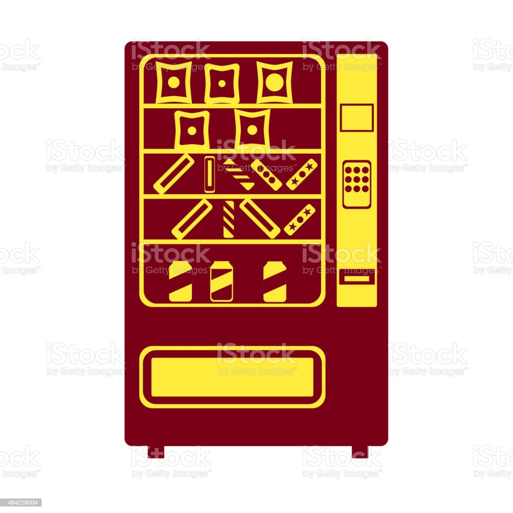 Vending machine icon vector art illustration