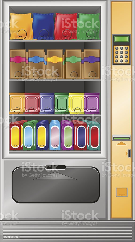 vending snack is a machine royalty-free stock vector art