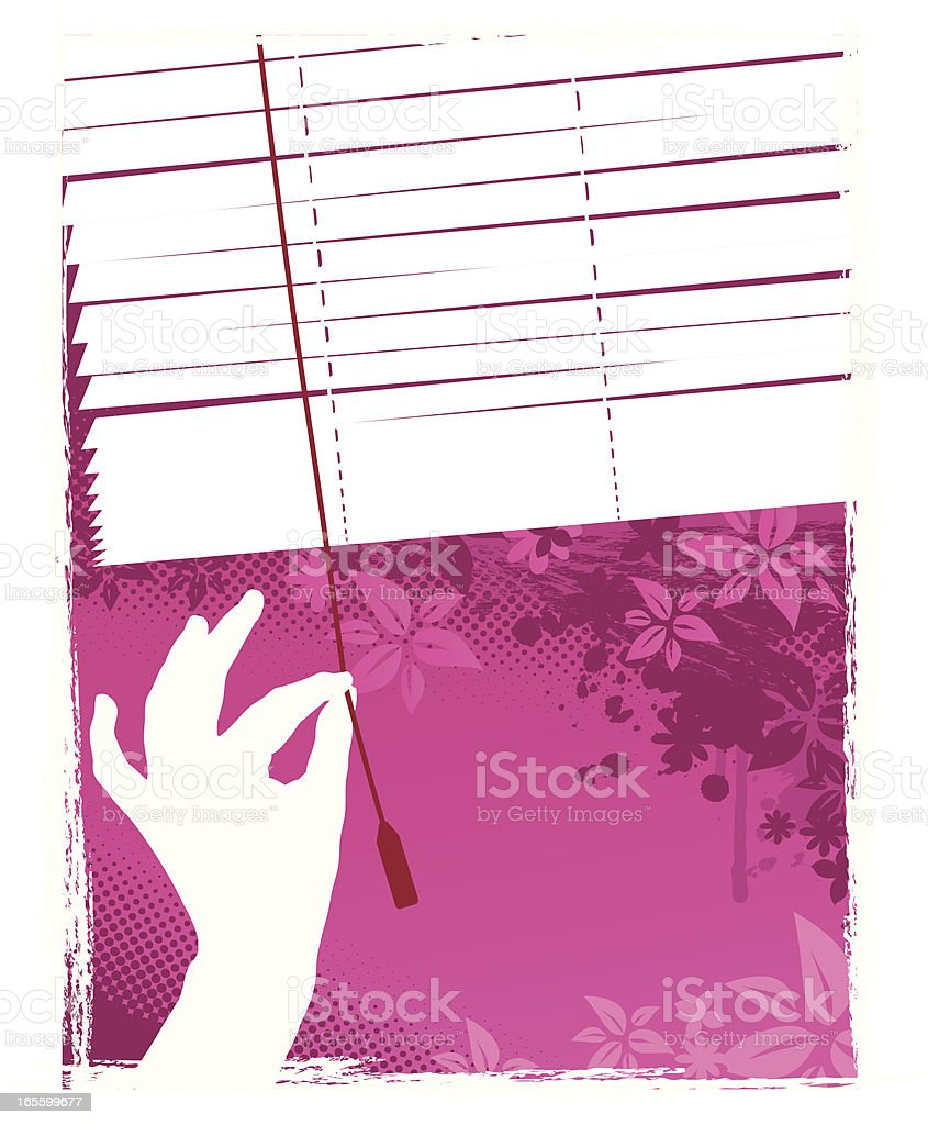 Venetian Blind vector art illustration