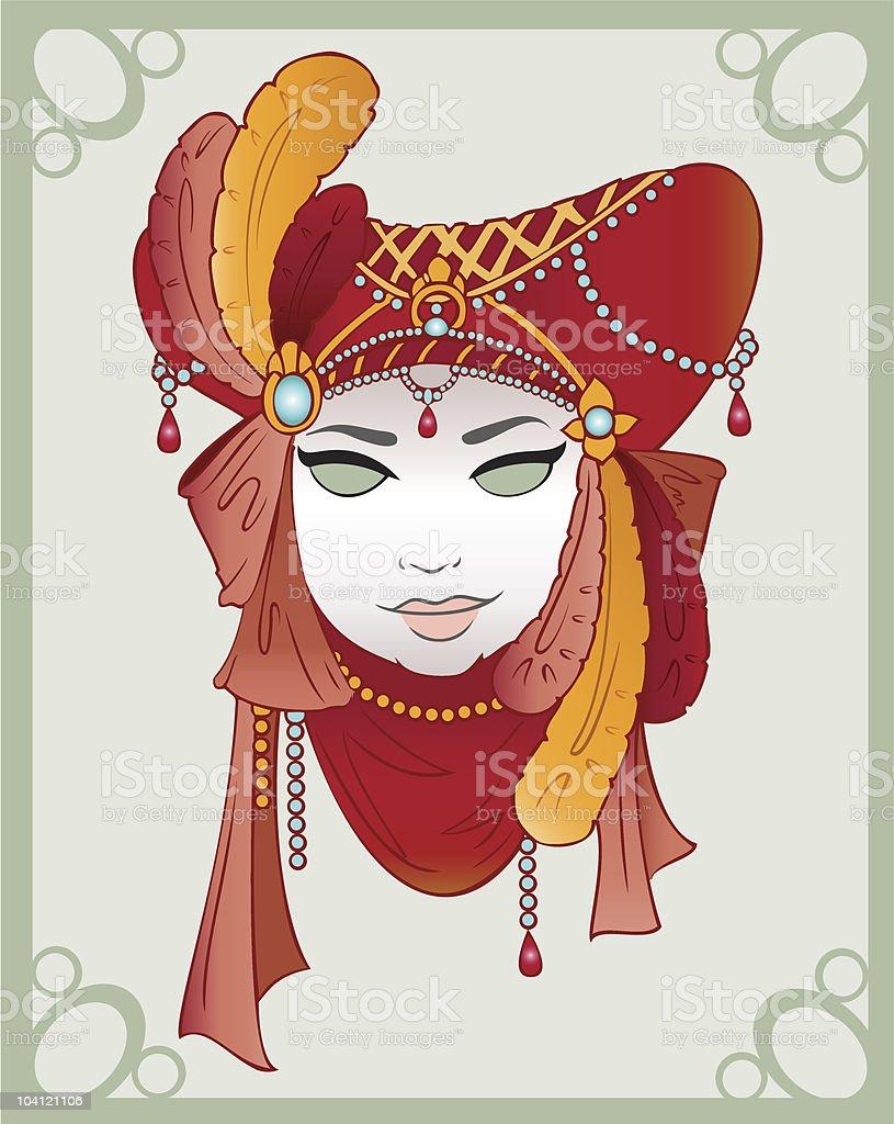 Venetian Carnival Mask vector art illustration