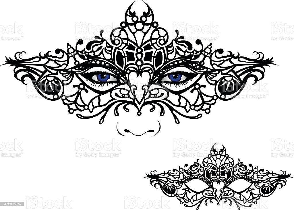 Venetian Mask vector art illustration