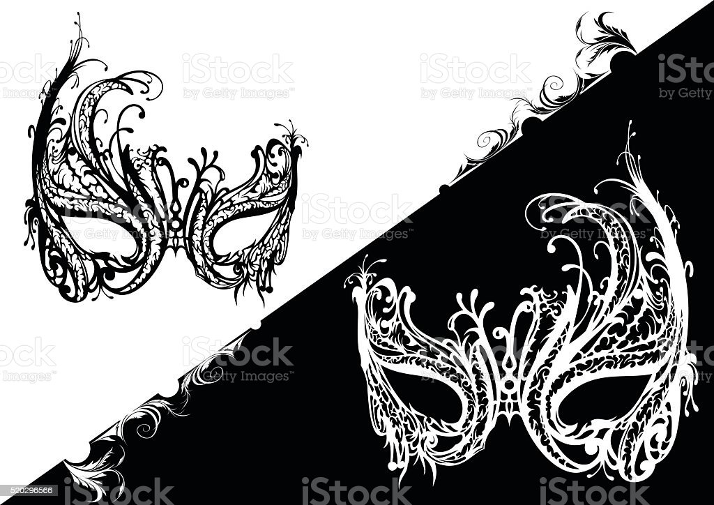 Venetian Mask vector art illustration