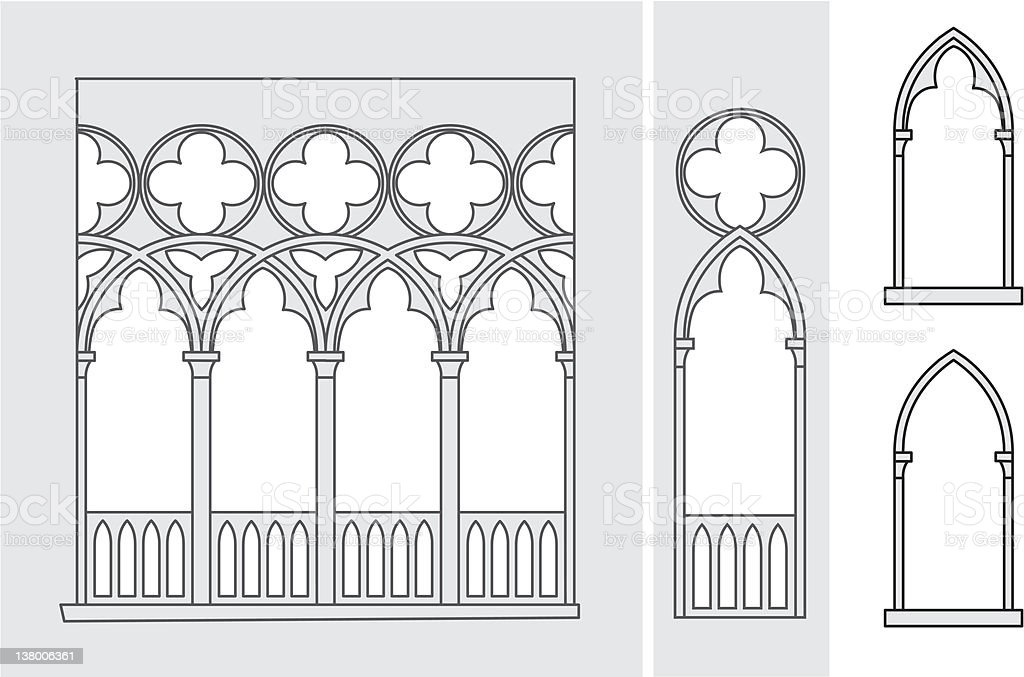 Venetian Windows royalty-free stock vector art
