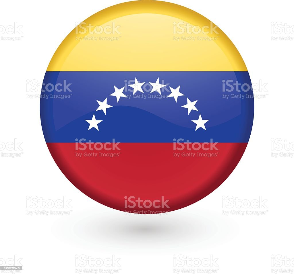 Venezuela flag vector button royalty-free stock vector art