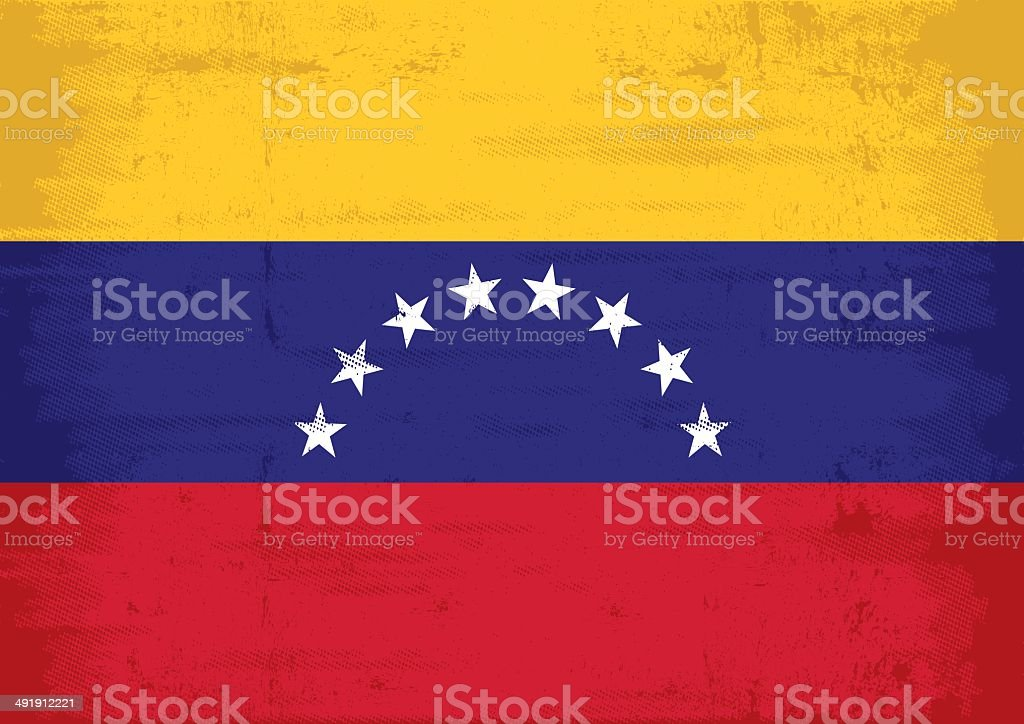 Venezuela grunge flag royalty-free stock vector art