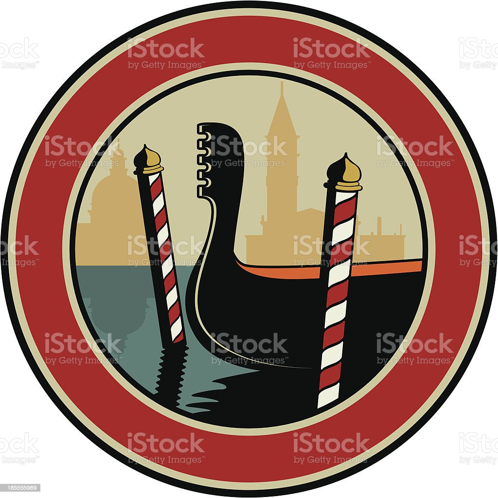 venice emblem royalty-free stock vector art